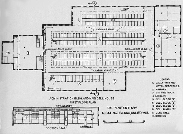 Alcatraz - Cell House Floorplan